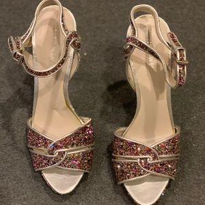 Nine West glitter platform sandals